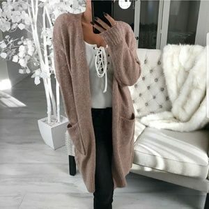 Warmth Wool Mauve Cardigan